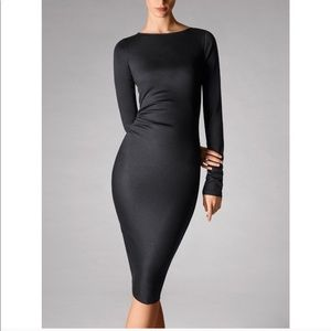 BNWT Wolford Graphite Ruched Longsleeve Dress